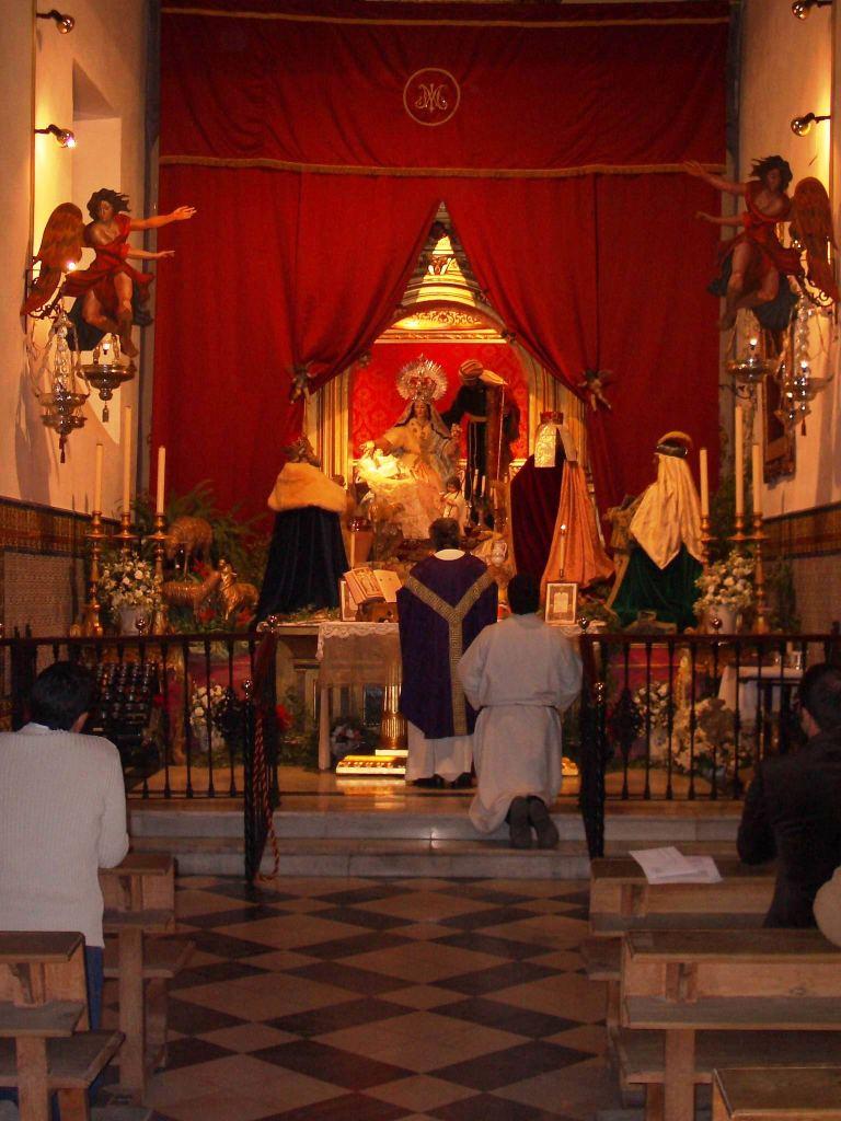 Primera Misa tradicional Una Voce Sevilla. Año 2004. Capilla Divina Pastora