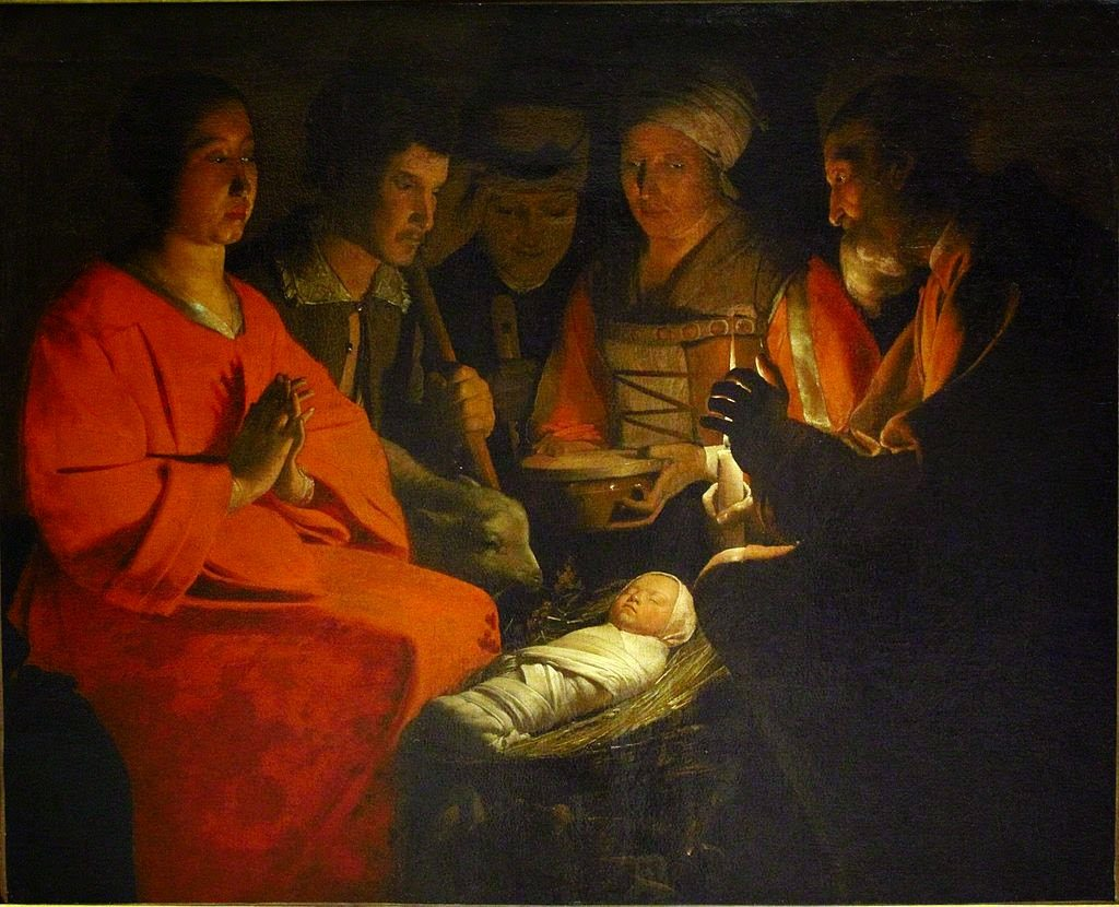 Georges de la Tour La adoración de los pastores Museo de Louvre