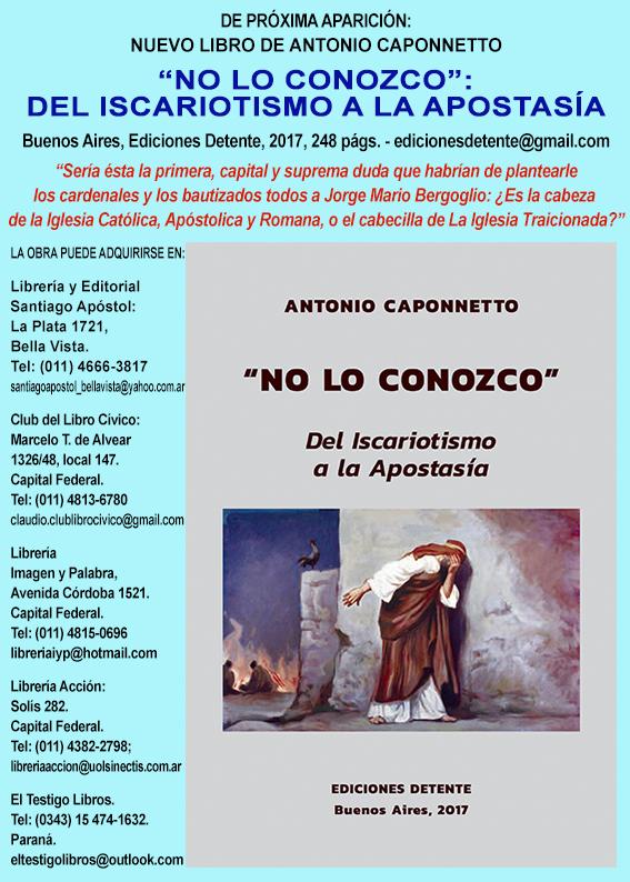 Resultado de imagen para imágenes libro No lo Conozco Caponnetto