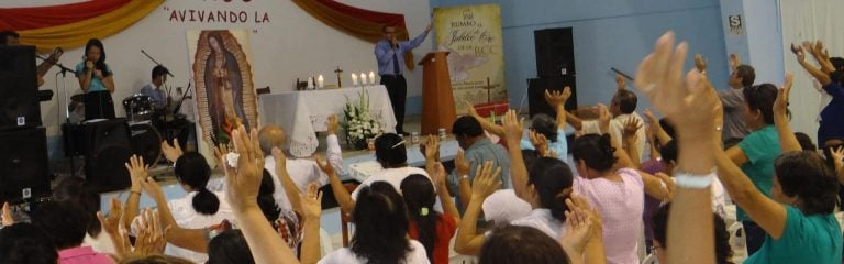 Los fieles participan en la Misa con las manos juntas y el presbítero celebra con las manos extendidas
